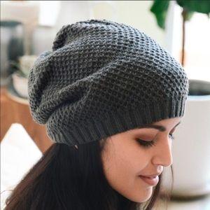 Knit beanie slouchy hat